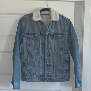 Sherpa lined denim jacket H&M
